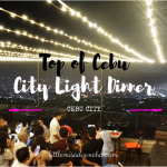 Top of Cebu: Dining with City View