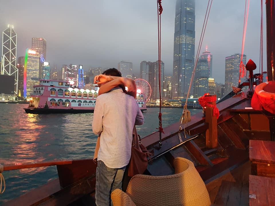 the proposal aboard the aqua luna